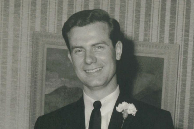 A young Byron Spencer on the day of his wedding
