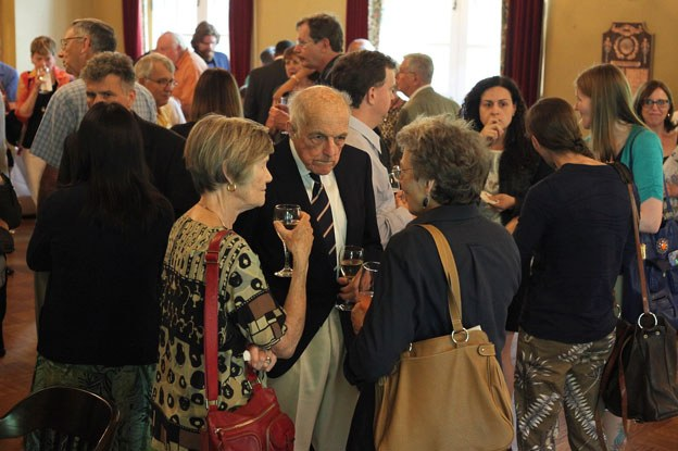 Guests gathered at the University Club